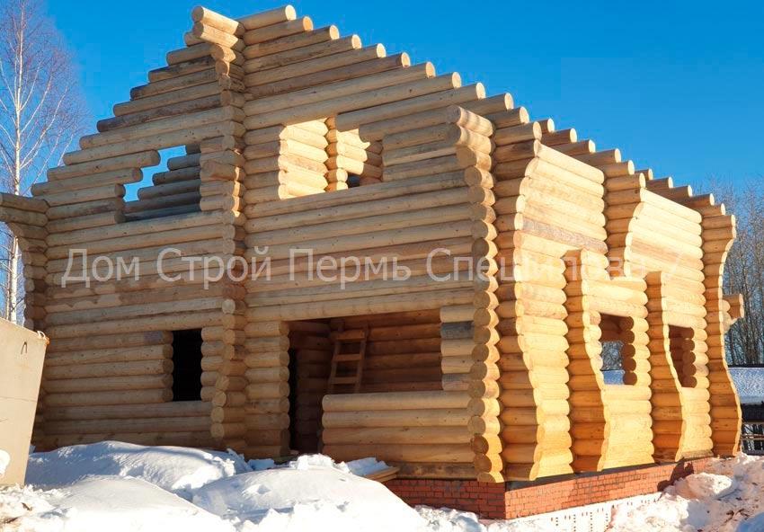 сруб для дома из бревна в Перми