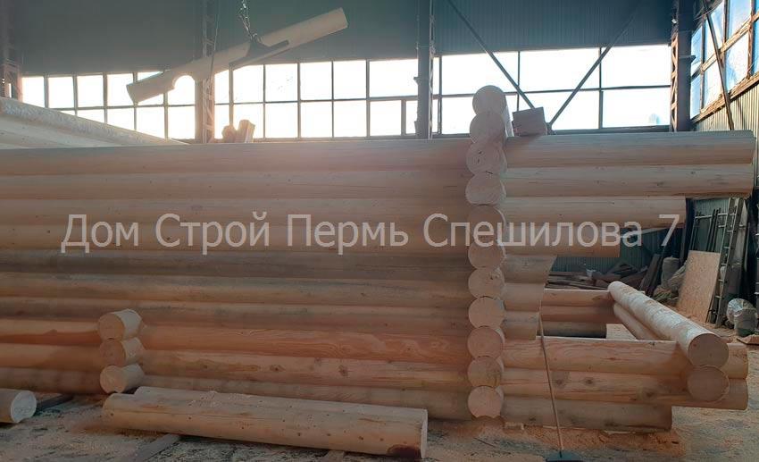 сруб для дома из бревна Пермь